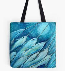 Narwhal Sea. Narwhals by Sheridon Rayment Tote Bag