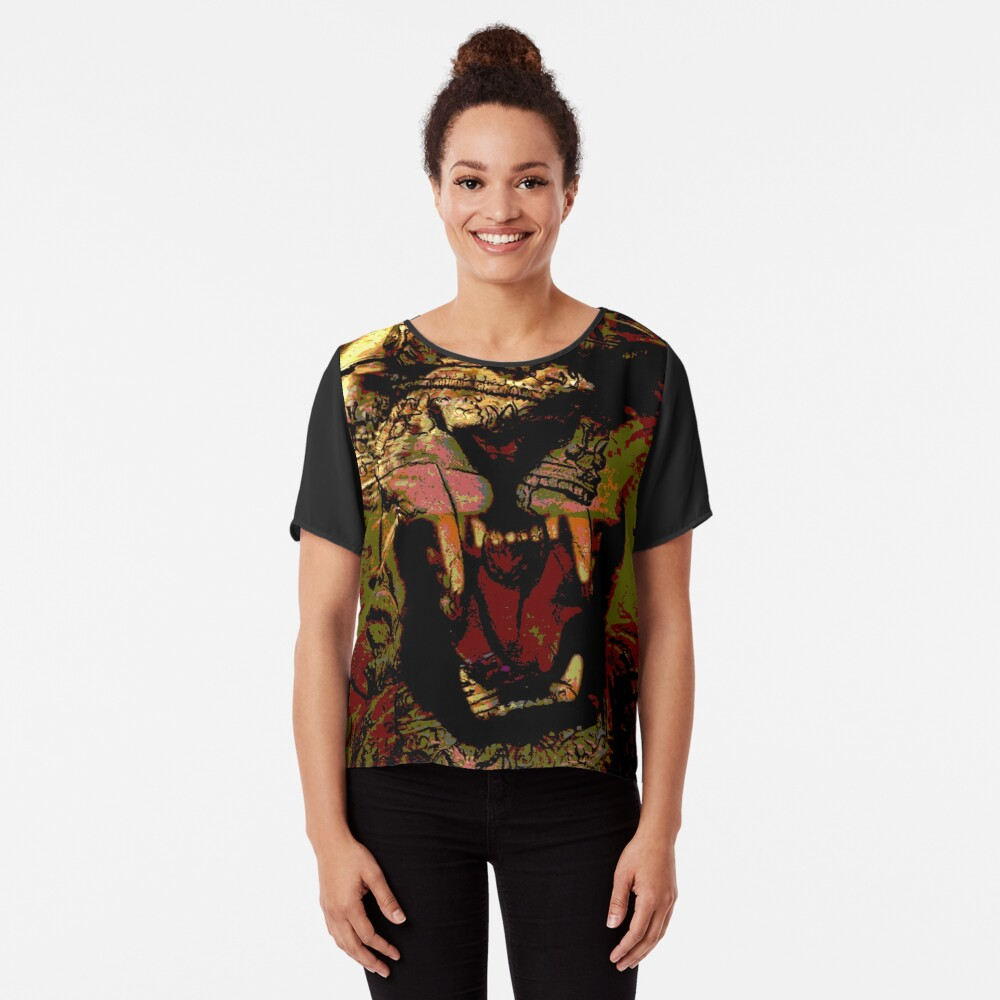 Jah Rasta Lion Power Chiffon Top