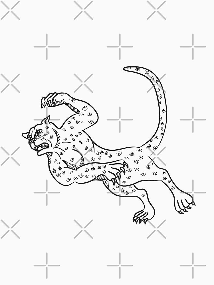 Cheetah Falling Down Cartoon by patrimonio