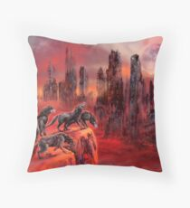 Wolves of Future Passed Throw Pillow