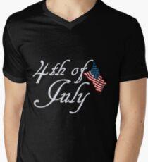 4. Juli T-Shirt mit V-Ausschnitt