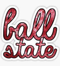 Ball State Red TieDye Sticker