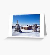 Footprints in the Snow (Bunny Wabbit Twacks) Greeting Card