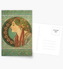 Postales Laurel Cameo de Alphonse Mucha