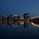 Overlooking Tempe Town Lake at Dusk by K D Graves Photography