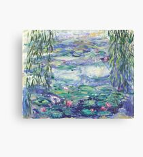 Lillies Over the Pond Canvas Print