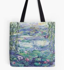 Lillies Over the Pond Tote Bag
