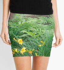 Cinnamon Fern and Boulder Garden Mini Skirt
