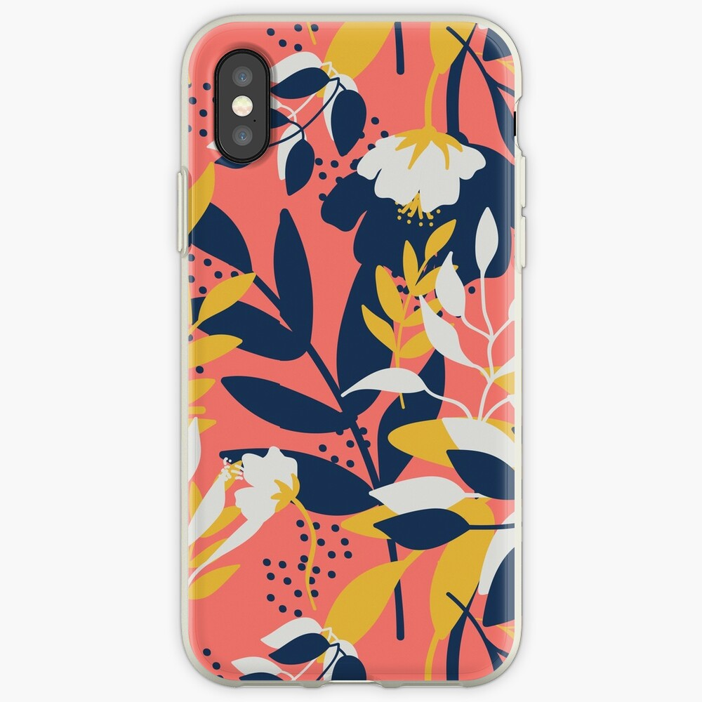 Flower coral pink iPhone Case & Cover
