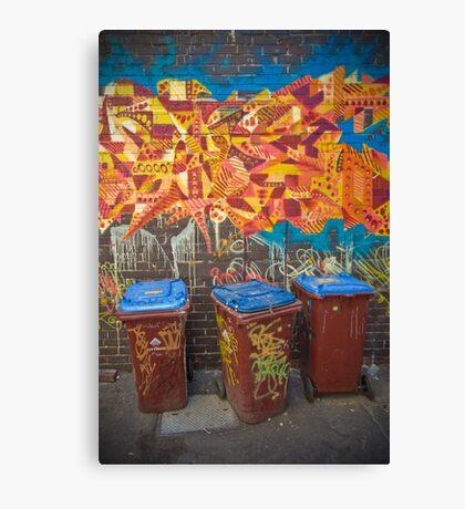 Croft Alley Bins Canvas Print