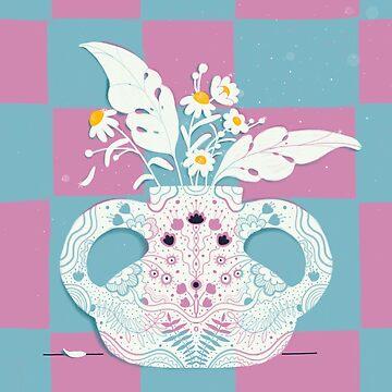 Happy vase by cherryandmint