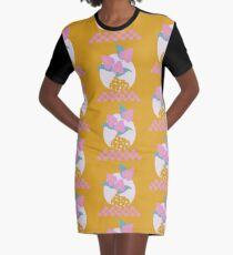 Anthurium plant & Terrazzo vase Graphic T-Shirt Dress
