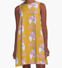 Anthurium plant & Terrazzo vase A-Line Dress