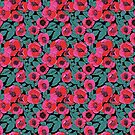 Red , pink and teal floral SS19 by MagentaRose