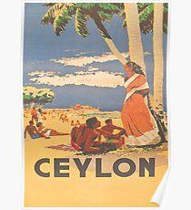 Vintage Ceylon Tourism Poster Poster