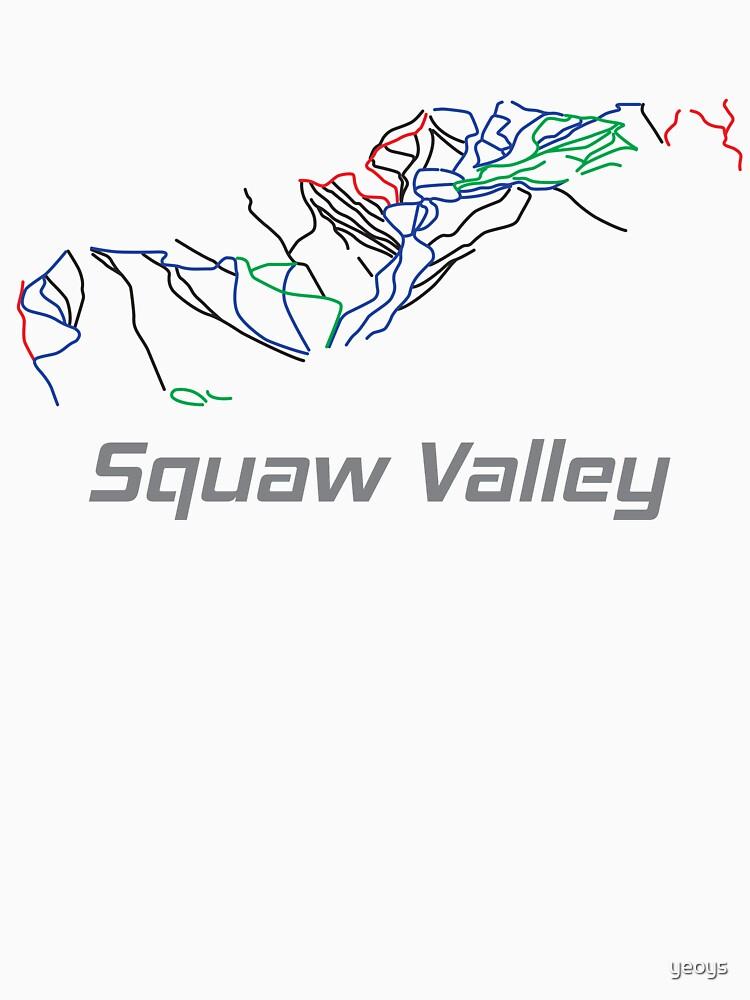 Squaw Valley California Ski Pist Map - Winter Vacation Gift von yeoys
