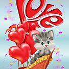 Valentine Kitten by LoneAngel