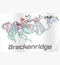 Breckenridge Colorado Ski Pist Map - Winter Vacation Gift Poster