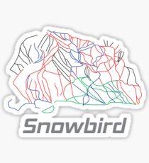 Snowbird Utah Ski Pist Map - Winter Vacation Gift Glänzender Sticker
