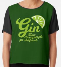 Gin. How Classy People Get Shitfaced - Lime Chiffon Top