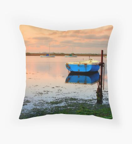 Anchored Boats Throw Pillow