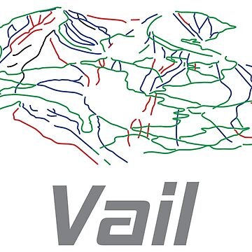 Vail Colorado Ski Pist Map - Winter Vacation Gift by yeoys