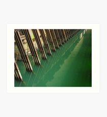 Steel Channels and Green Water (Hydro-electric power station, Niagara Falls) Art Print