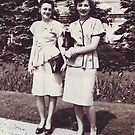 Dorris Reyst  with a frend 1947 by cdcantrell
