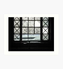 The Old Scow, Framed By The Window (Hydro-electric power station, Niagara Falls) Art Print