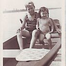 Betty and friend going boating by cdcantrell
