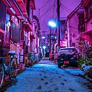 Snow covered Japanese street by Guillaume Marcotte