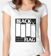 Black Flag - Everything Went Black Women's Fitted Scoop T-Shirt