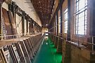 Green Water in Power Station Forebay (Hydro-electric power station, Niagara Falls) by Kendall Anderson