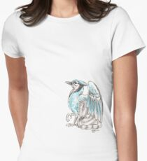 Mythological House Griffin: Blue Jay Variety Womens Fitted T-Shirt