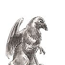 Sketch -- Mythological House Griffin: Crow Variety by Stephanie Smith