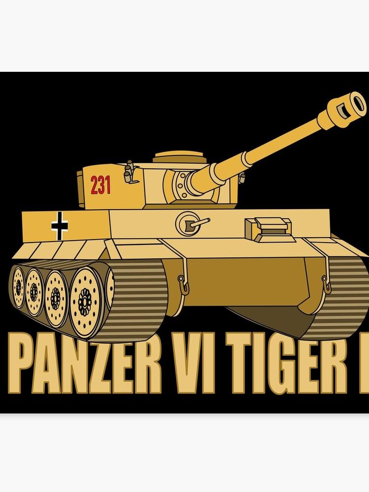 Panzer VI Tiger I Tank Gift WW2 German Army Tanks | Canvas Print