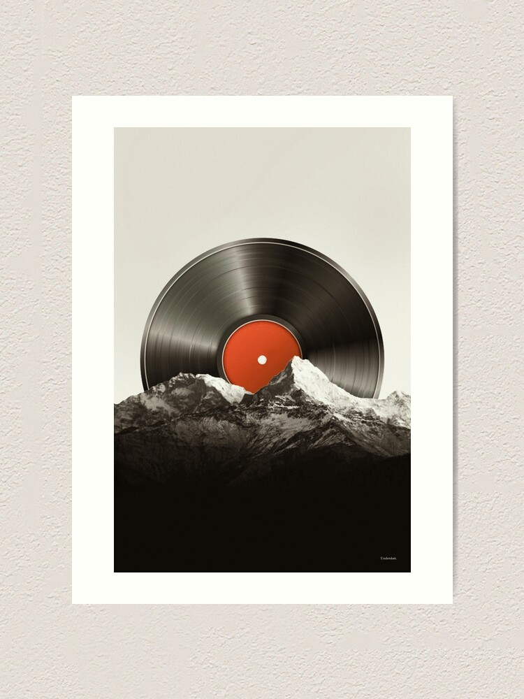 Alternate view of Retro vinyl record Art Print