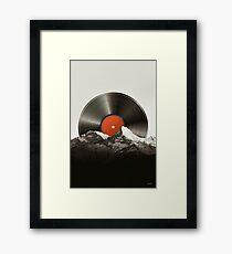 Retro vinyl record Framed Print