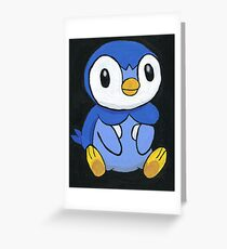 Piplup the Penguin Pokemon Greeting Card