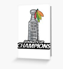 Chicago BlackHawks Stanley Cup Champions Greeting Card