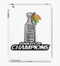 Chicago BlackHawks Stanley Cup Champions iPad Case/Skin