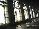 Glowing Windows in Turbine Hall (Hydro-electric power station, Niagara Falls) by Kendall Anderson