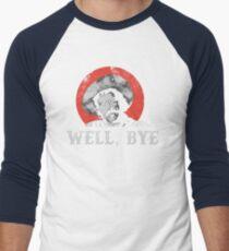 Nun, Tschüss in weißer Schablone Baseballshirt für Männer