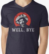 Well, Bye in white stencil Men's V-Neck T-Shirt