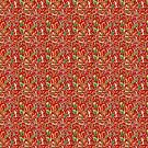 Red Nature Pattern by Sue Todd