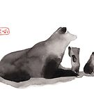 « Famille Sumi-e Bear » par Threeleaves