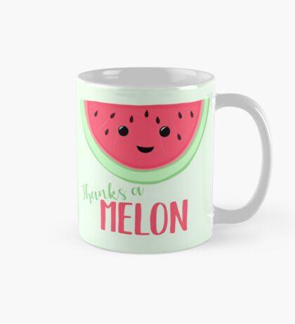 Thanks a MELON - Thanks a million - Melon Pun - Teacher Card - Funny Thanks - Funny Thank you Mug