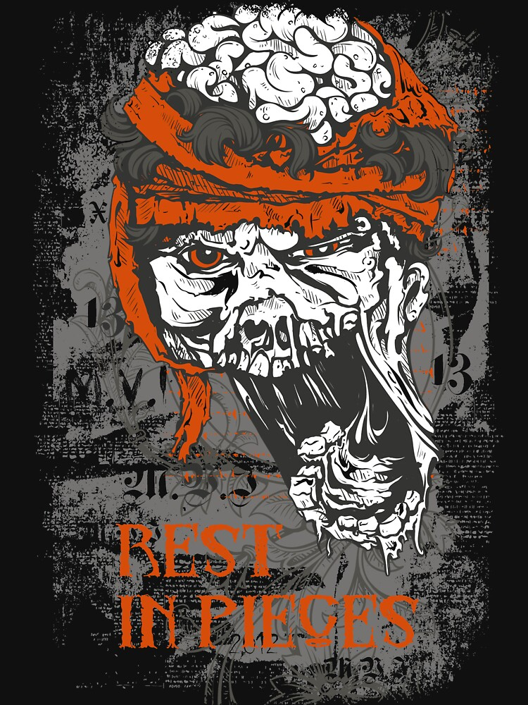 Rest in Pieces skull brains by designhp
