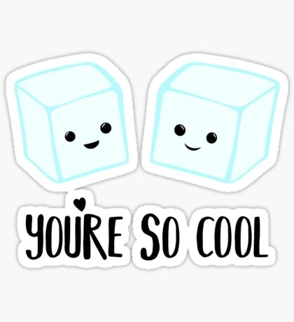 You're so COOL - Ice Cube - Ice Puns - Valentines Day Puns - Anniversary Puns - Birthday Puns  Sticker
