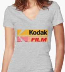 Kodak Film Shirt mit V-Ausschnitt